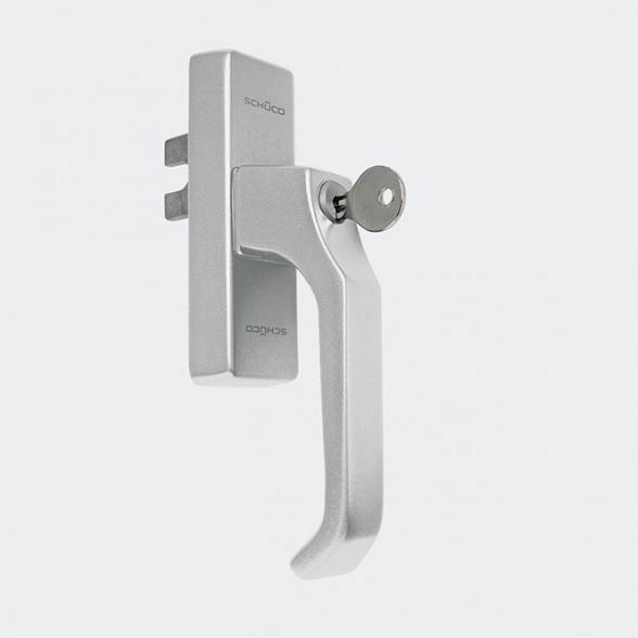 Schüco Steckgriff für Metallfenster abschließbar silber weiß 234014 234017