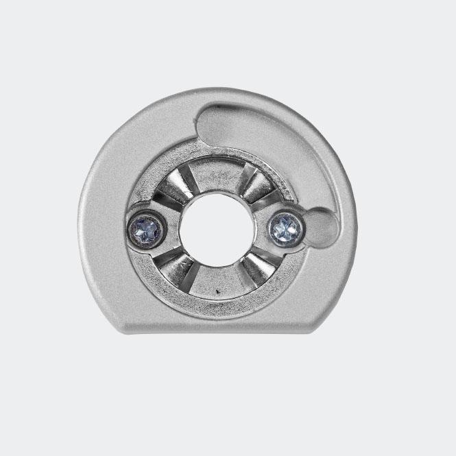 RC Befestigungsrosette Silber | Rechts
